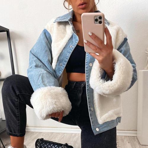 hirigin Winter White Faux Fur Coat Women Casual Warm Soft Single Breasted Fur Jacket Plush Overcoat Pocket Teddy Coat Female