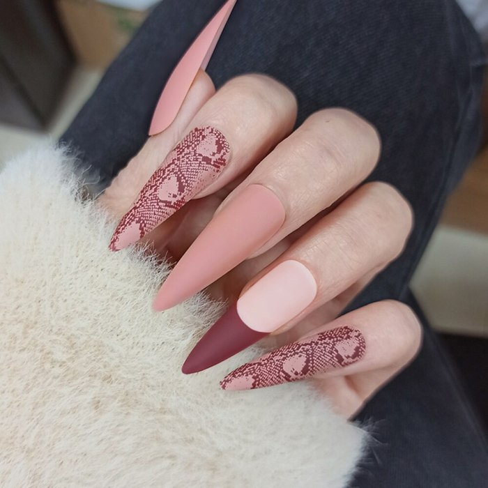 24pcs Med-length Minimalist Graffiti Ballet false nails with design natural coffin press on artificial nail art tips with glue