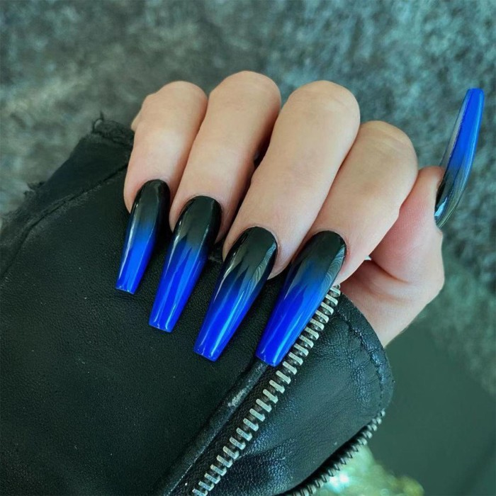 Fake nails with designs coffin artificial nails tips overhead with glue press on nail false nails set nail art tools Accessories