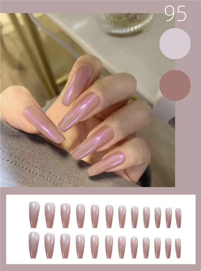 24pcs/Set Rose Coffin Fake Nails Black Piece Wearable Press On Nail Tips Artificial Full Cover Ballerina False Manicure Art