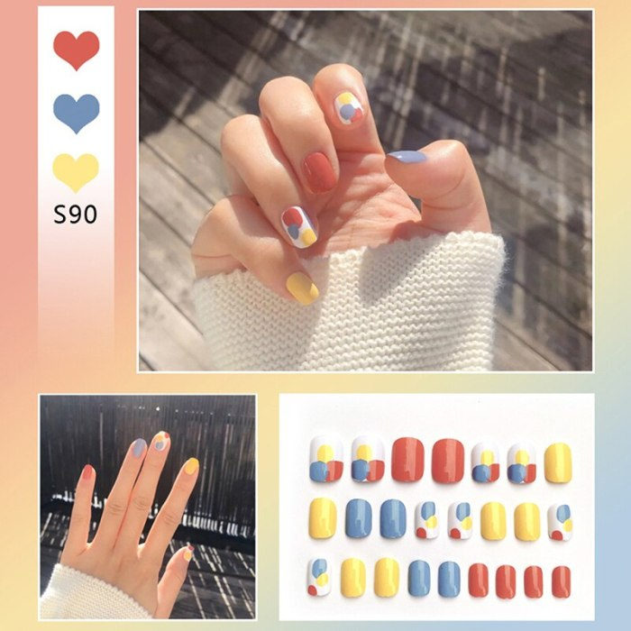 Fake Nails Jelly Finger Nail Press On Nails Manicure Decoration Nail With Glue