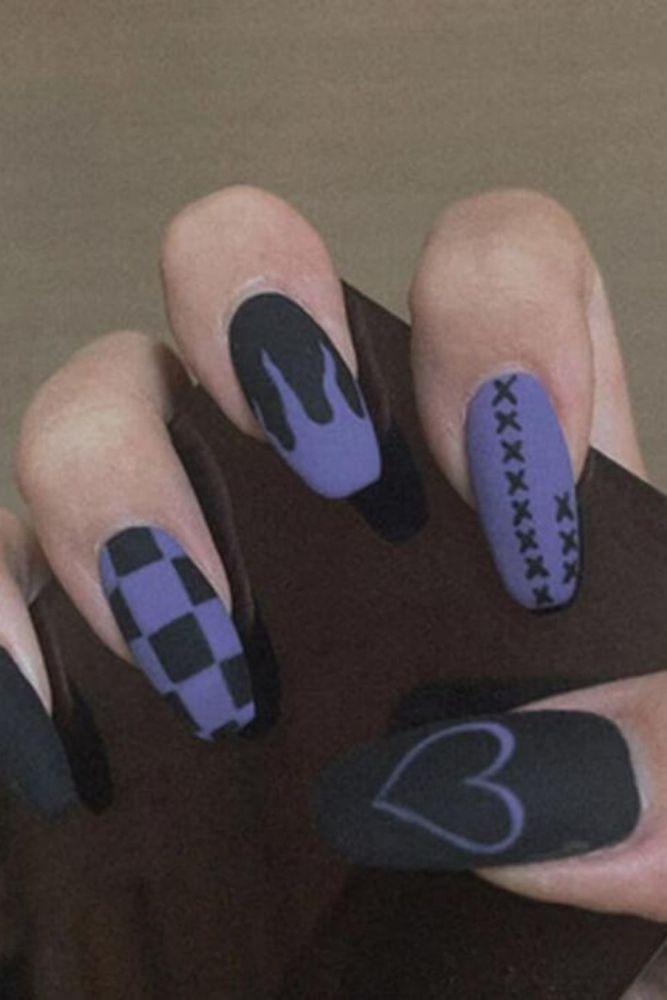 24Pcs Long Ballerina  Leopard Fake Nails Yellow Butterfly Pattern Square Nail Decal False Nails Coffin Shaped Full Nail Art Tips