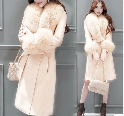 Woolen Coat Women's Middle And Long Korean Version 2021 New Autumn And Winter Clothes With Thin Waist And Fashionable Large Wool
