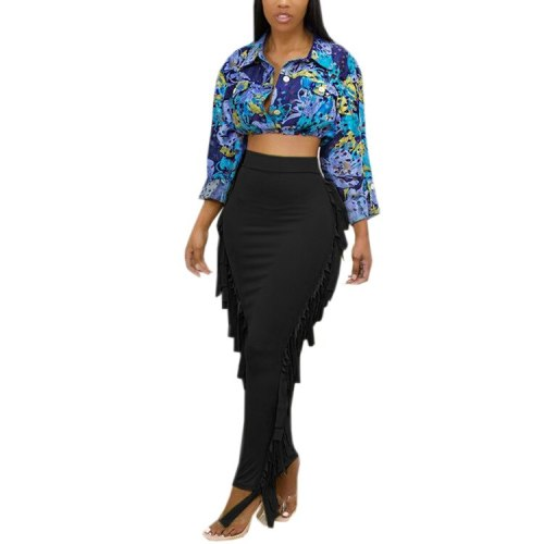 Women Summer Casual Sexy Solid Long Maxi Skirt Party Club Female Sexy Beach Skirt Femme