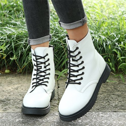Hot Sale Couple Martin Boots Women's Tide Cool British Style 2021 Autumn And Winter New Black Hot Style Stitched Thick-Soled Sho