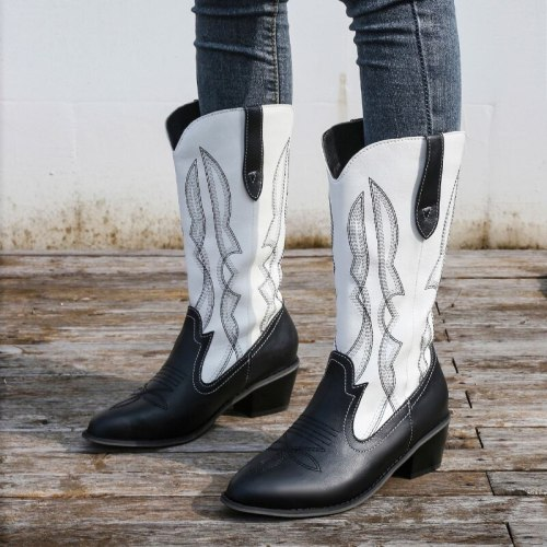 2021 New Winter Martin Boots Women Mid-tube Wedges Snow Boots Womens Shoes Comfort Thigh High Boots Winter Punk Shoes Mid-Calf