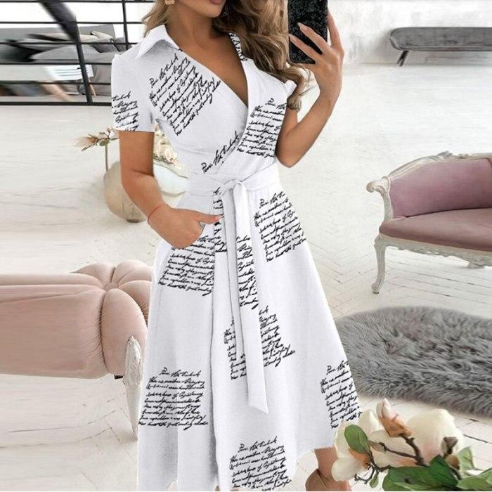 Office Lady Elegant Summer Sleeveless Dress Women Casual Turn-Down Collar Belt Dress Sexy V Neck Slim Solid Long Party Dress XXL