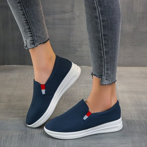 Women's Vulcanized Shoes, Women's Pull-on Solid Color Sneakers, Women's Sports Comfortable And Casual Women's Shoes 2021