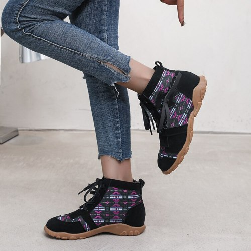 2021 Spring and Autumn New Color Matching Fashion Bow Women's Shoes Large Size Women's Vulcanized Shoes