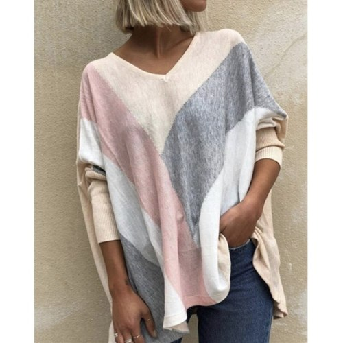 Women's Fashion Autumn and Winter Clothes Casual Long Sleeve Shirt Ladies Loose T-shirt Cotton Pockets Leopard Print Stit