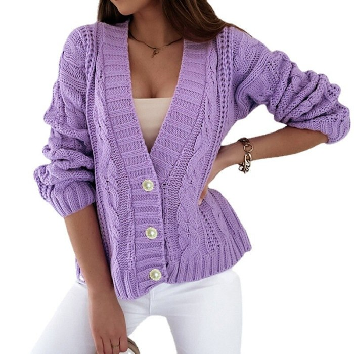 Winter Cardigan for women Ladies Sweater Long Sleeve knitted Fall Oversize Jumper Casual Loose Clothes Sweater Coat