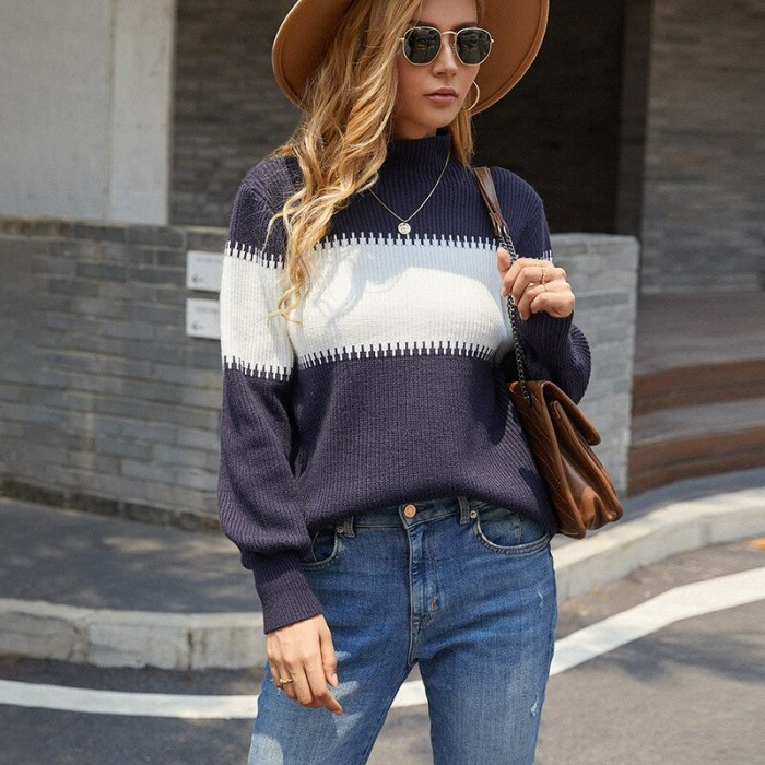 Oversized Fringed Shawl Striped Pullovers Women Spring Autumn O-Neck Loose Long Sweaters Streetwear Warm Outerwear 2021