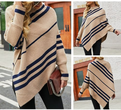 Women's New 2021 Oversized Sweater Women's Winter Clothing Knitted Women's Shawl Wrapped Tassel Casual Loose Aesthetic Cable Str