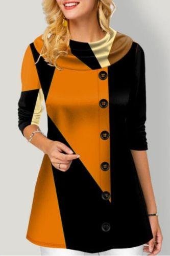 2021 Fall new top selling dress lapel long sleeve single-row buttonhole plaid patchwork dress women's