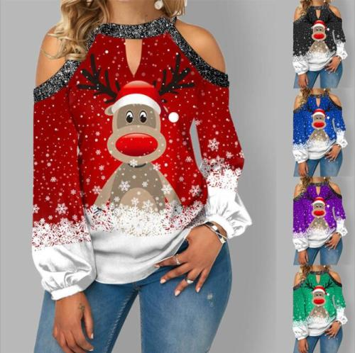 Christmas tops pullover  women's jacket streetwear pullover sweatshirt vintage 2021 women clothing oversized sweatshirts