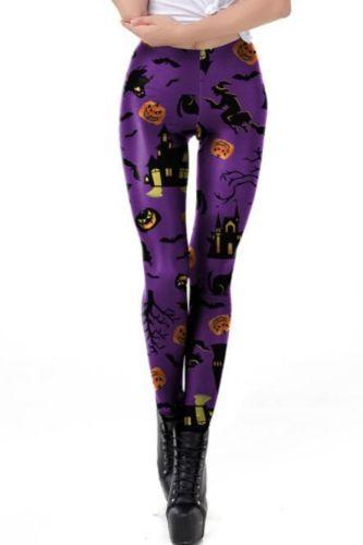 Happy Halloween Series Costume Women's Party Leggings Scarring 3D Print Legins Female High Waist Fitness Elastic Legging