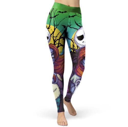 2021 New Digital Print Pants Female Halloween Zombie Series Bodybuilding Pants
