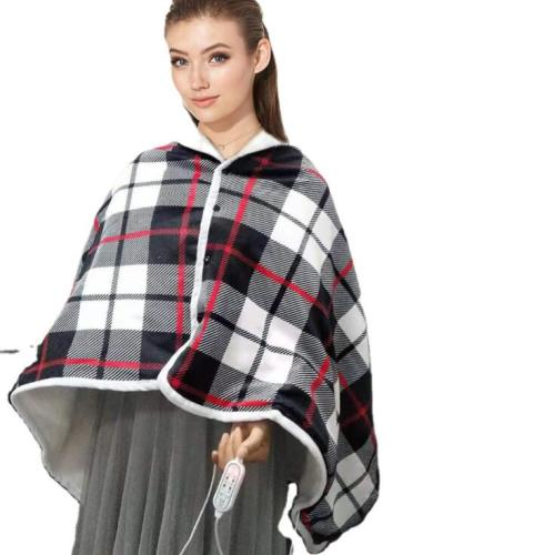 USB Electric Heated Shawl Wrap Heat Blanket   Electric Heating Throw Blanket with Washable 3 Heat Settings