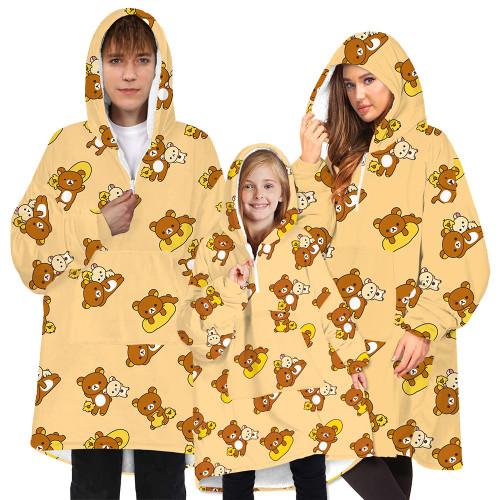 Blanket Hoodie Oversized Wearable Sweatshirt Blankets Soft Flannel Plush for Adults Women Men Teenagers Cozy Warm Giant