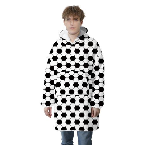 Phantasy Winter Warm Fleece Blanket Hoodies Oversized Hooded Print Sweatshirt Jacket Couple TV Tracksuit Casual Family Pullover