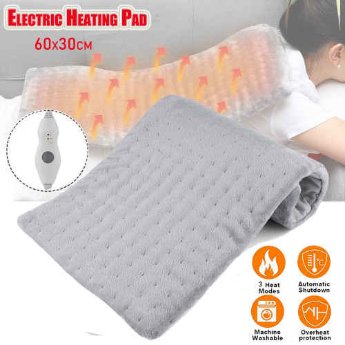Heating Pad for Back Pain and Cramps Relief 30*60cm Soft Velvet Machine Washable
