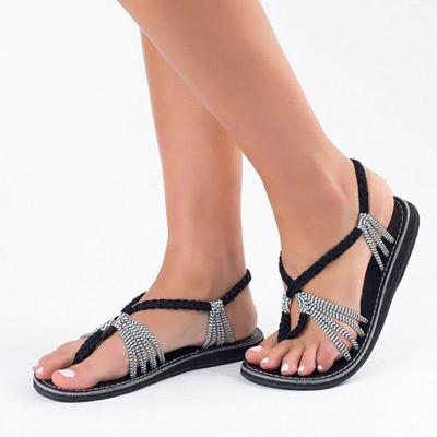 Contrast Stitching  Bohemian Sandals