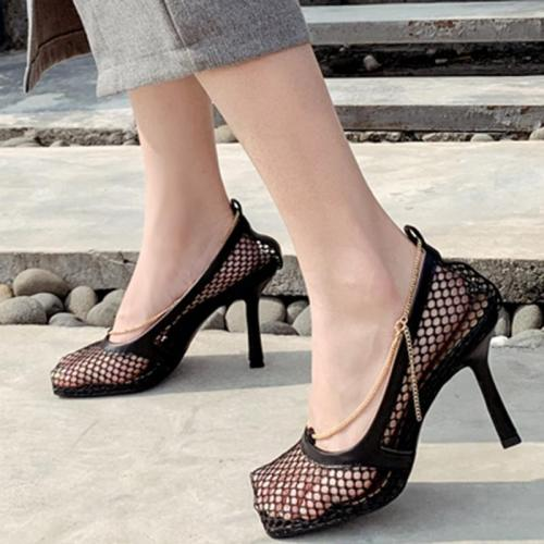 Daily Mesh High Heel Summer Heels