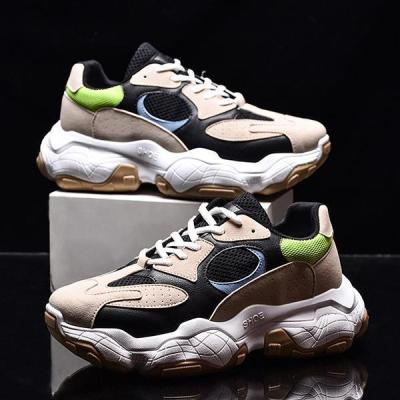 Korean Style Fashion Casual Contrast Color Platform Shoes Men's Sneakers