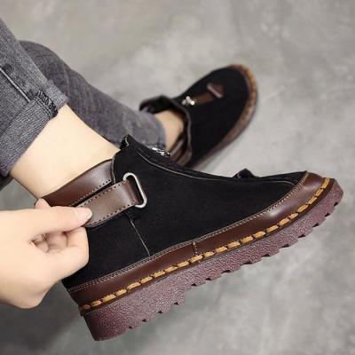 Womens New Style Platform Flat Bottom Martin Ankle Boots