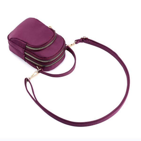 Nylon Waterproof Multi- Slot Crossbody Bag Mini Portable Phone Bag