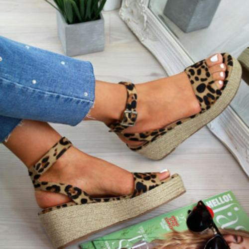 Platform Sandals Fashion Women Strap Fashion Sandal Wedges Shoes Casual Woman Peep Toe
