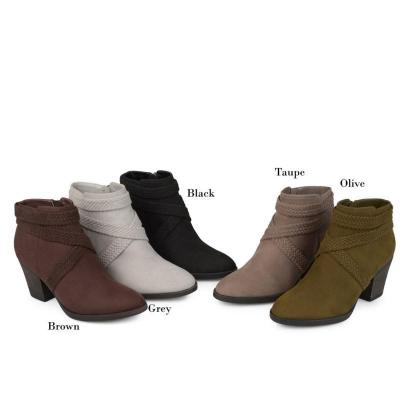 Women Casual Daily Chunky Heel Daily Zipper Round Toe Boots