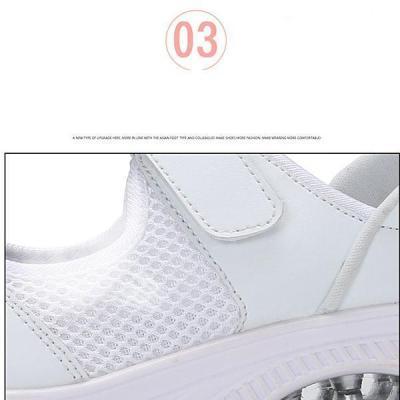 Women's Mesh Non-Slip Lightweight Wedges Velcro Shake Sneakers