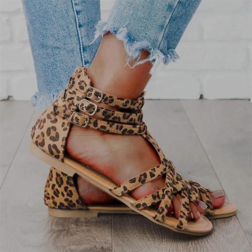 Bohemia Folk Style Crisscross Women Flat Sandals