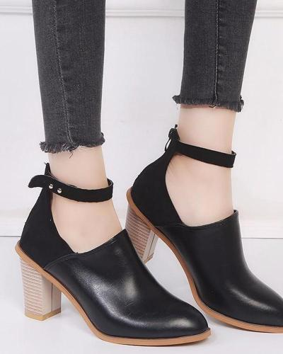 High Heel Strap Ankle Bootie