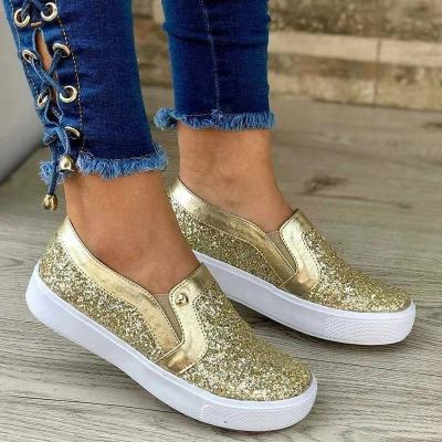 Women Shiny Paillette Loafers