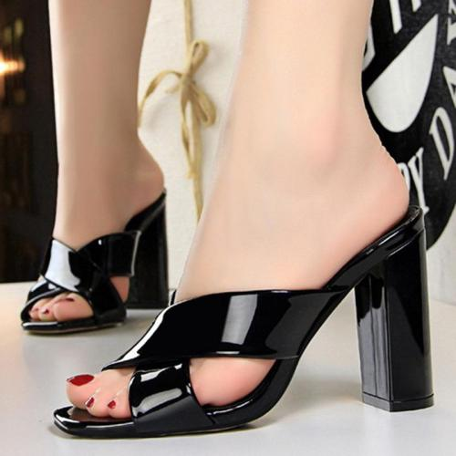 High Heel Pu Summer Peep Toe Sandals