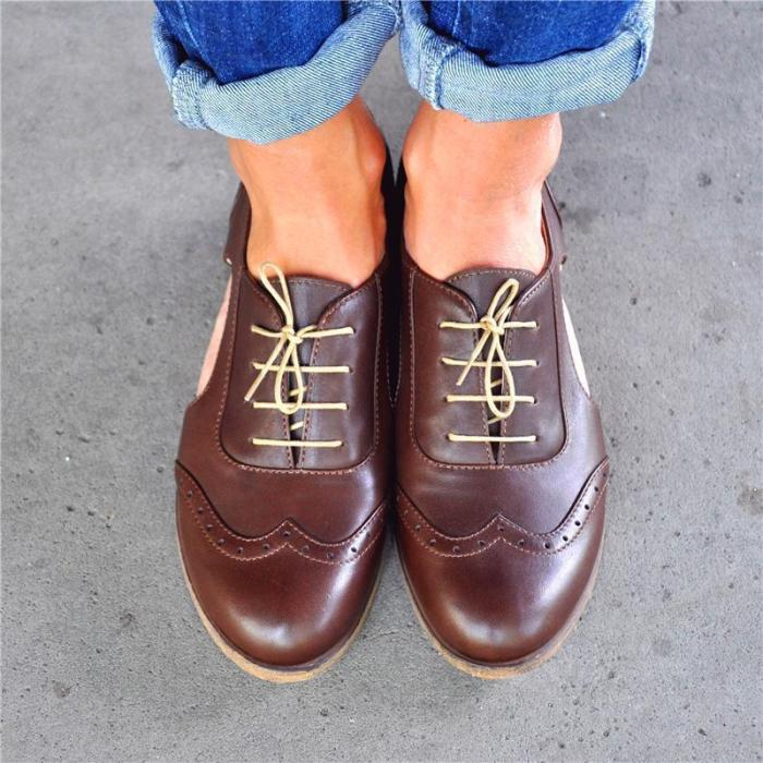 Open-Cut Stylish Leather Oxford Shoes