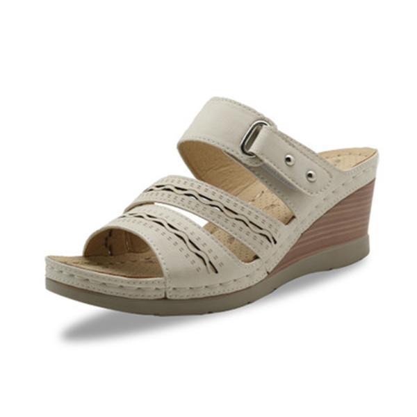 Opened Toe Lightweight Roman Wedges Sandals