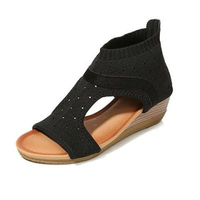 Women Elegant Summer Fly-Woven Fabric Sandals