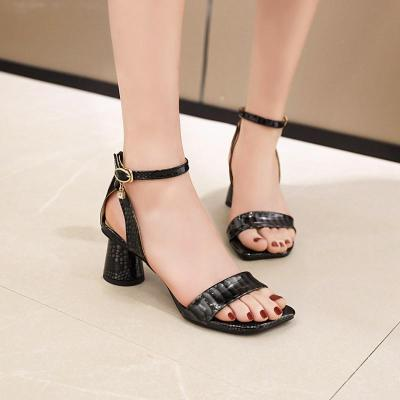 Sandals Women's Chunky High Heel New Open Toe Sandals Women