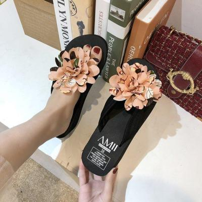 Women's Sandals New Women's Summer Wear Fashion Slippers Flower Shoes
