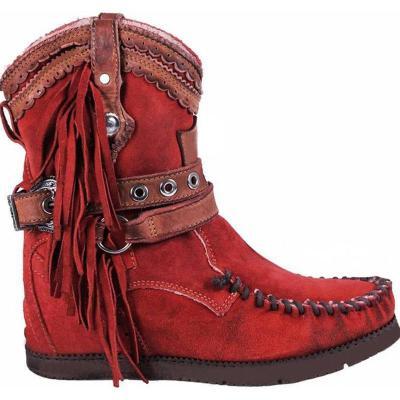 Vintage Round toe Slip on Tassel Boots