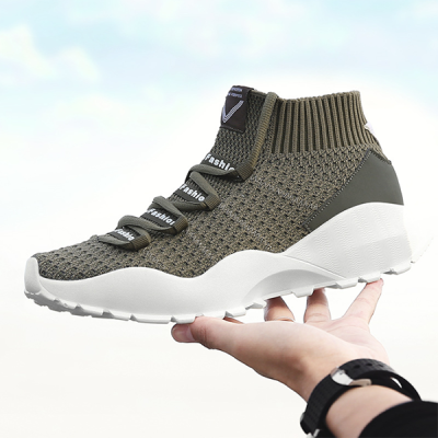 Men's Shoes Fly Woven Sports Shoes Breathable Running Shoes