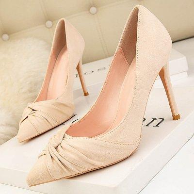 Suede Stiletto Heel Pointed Toe Elegant Pumps