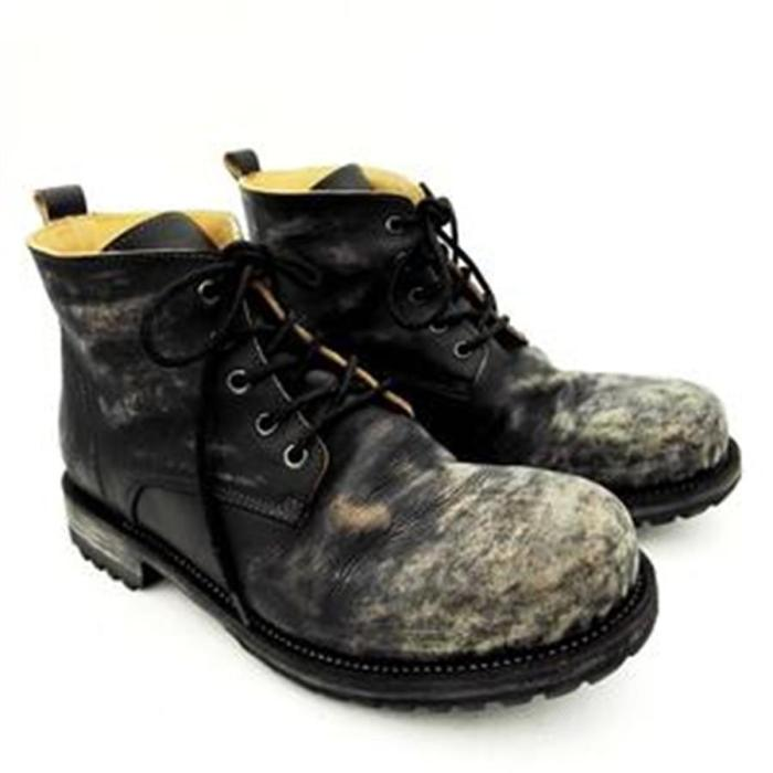 Men's handmade vintage leather ankle boots