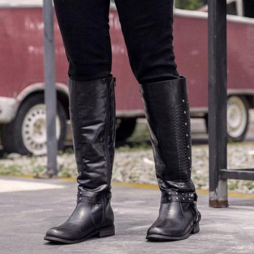 Women Winter Side-zipper Knee-high Boot