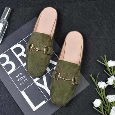 Flat Slippers Women's Cozy No Heel Muller Shoes In Summer