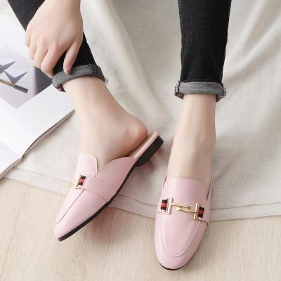 2020 New Round-head Slipper Women's Flat Muller Shoes