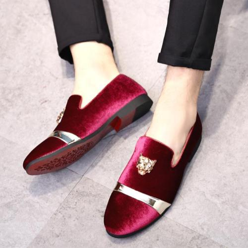 Men Velvet Casual Dress Shoes